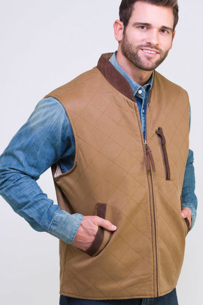 Quilted Travel Twill Vest