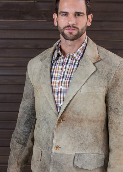 New Zealand Distressed Lamb Blazer