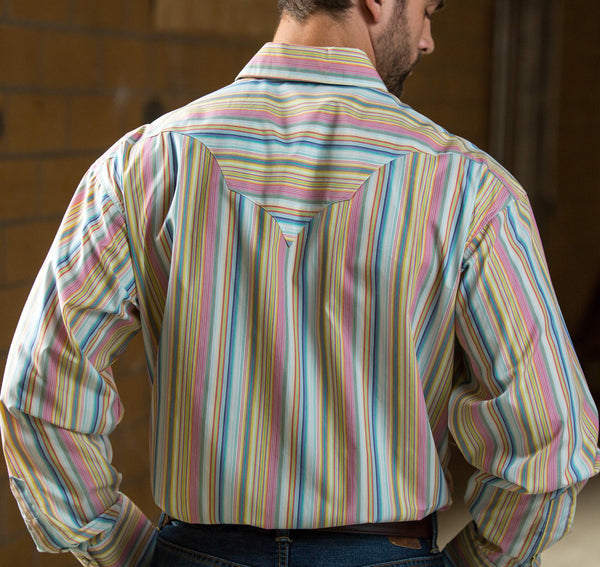 Colorful Stripe Snap Shirt