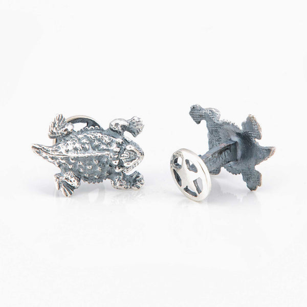 Horn Toad Sterling Silver Cufflinks