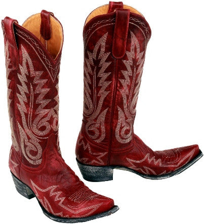 Nevada Red 13 inch Flame-Stitched Boot