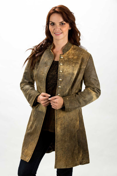 New Zealand Distressed Lamb Frock Coat