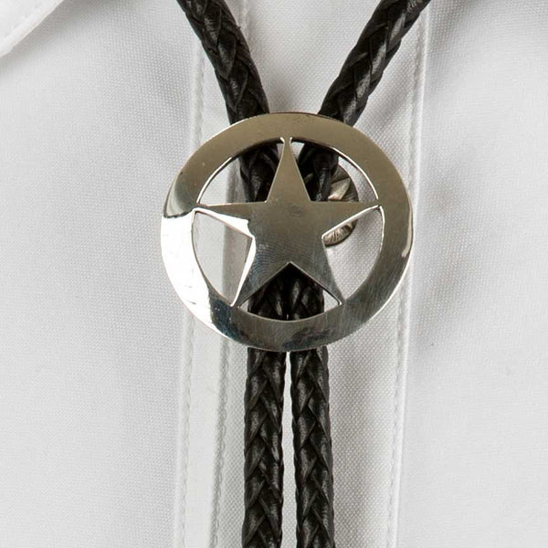 Smooth Badge Sterling Silver Bolo