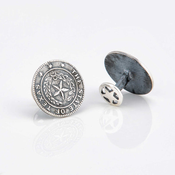 Texas State Seal Sterling Silver Cufflinks