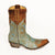 Caroline Aqua with Distressed Brass 10 Inch Boot Side Right