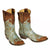 Caroline Aqua with Distressed Brass 10 Inch Boot