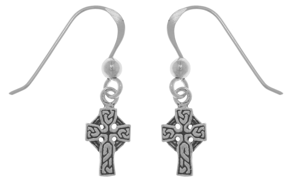 Jewelry Trends Sterling Silver Petite Celtic Cross Dangle Earrings First Communion Gift Religious Jewelry
