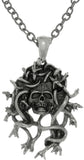 Jewelry Trends Pewter Medusa Skull Protection Pendant on Chain Link Necklace