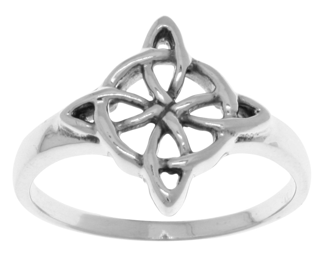 Jewelry Trends Sterling Silver Celtic Quaternary Good Luck Knot Ring Whole Sizes 6 - 11 - 6