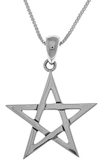 Jewelry Trends Sterling Silver Five Point Star Pendant on 18 Inch Box Chain Necklace