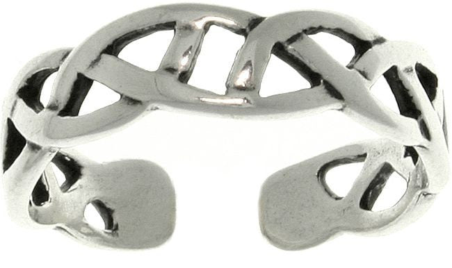 Jewelry Trends Sterling Silver Celtic Knot Design Adjustable Toe Ring