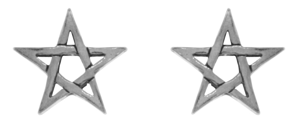 Jewelry Trends Sterling Silver Five Point Star Stud Post Earrings