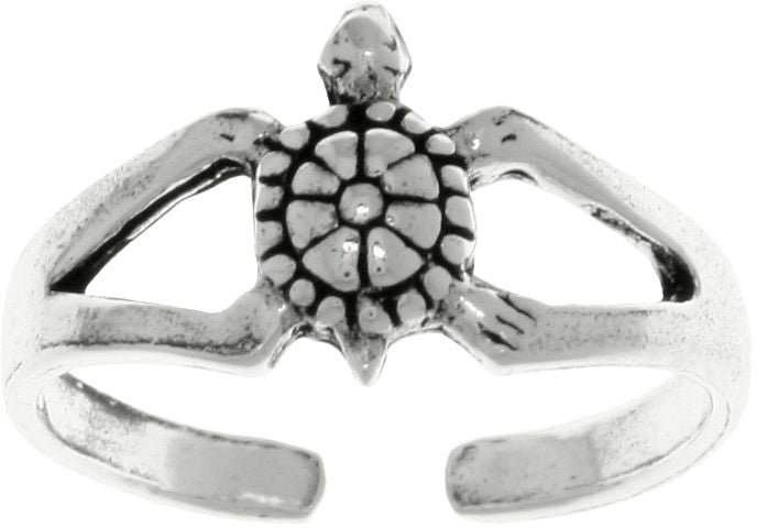 Jewelry Trends Sterling Silver Turtle Adjustable Toe Ring