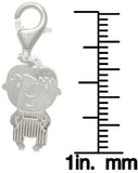Jewelry Trends Sterling Silver Jewelry Accessory Charm Laser-cut Baby in Striped Onesie