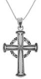 Jewelry Trends Sterling Silver Traditional Celtic Cross Pendant on 18 Inch Box Chain Necklace