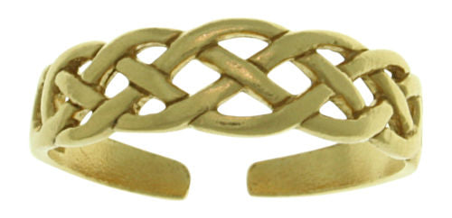 Jewelry Trends Gold-Plated .925 Sterling Silver Celtic Knot Toe Ring