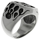 Jewelry Trends Stainless Steel Band Ring with Celtic Iron Cross and Flames Whole Sizes 9 - 14 - 9