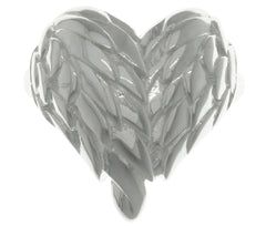 Jewelry Trends Sterling Silver Angel Wing Heart Ring Whole Sizes 6 - 9