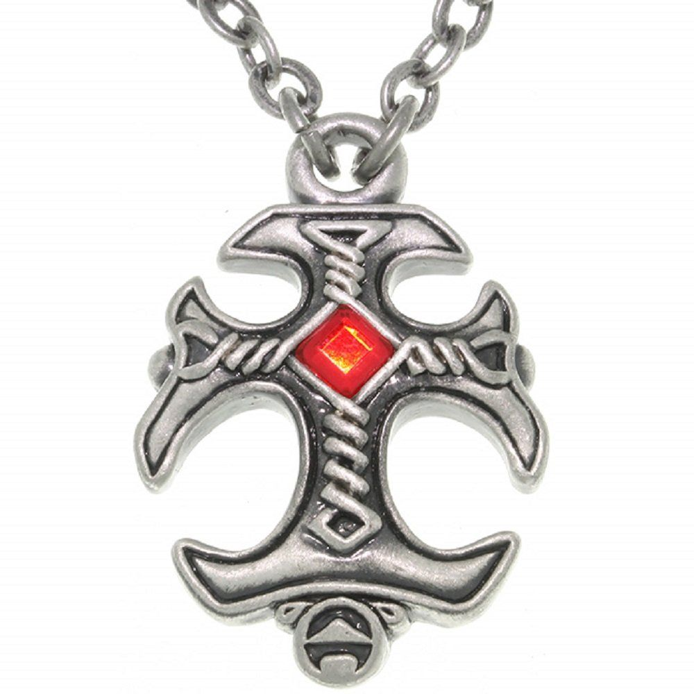 Jewelry Trends Pewter Gothic Cross Celtic Pendant on Chain Necklace