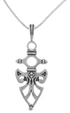 Jewelry Trends Sterling Silver Celtic Protection Pendant with 18 Inch Chain Necklace