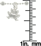 Jewelry Trends Sterling Silver Frog Adjustable 9 Inch Nature Charm Anklet