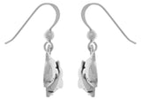 Jewelry Trends Sterling Silver Double Dolphin Mother and Child Dangle Earrings