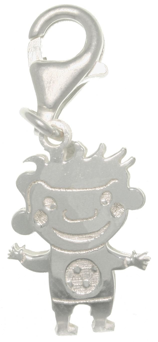 Jewelry Trends Sterling Silver Jewelry Accessory Charm Laser-cut Boy in Soccer Shirt