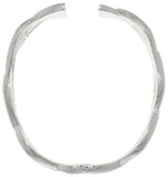 Jewelry Trends Silver-plated Brass Elegant Weaved Bangle Bracelet