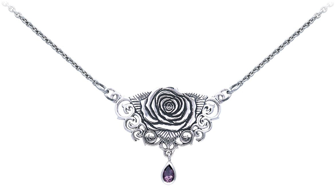 Jewelry trends sterling silver sacred rose celtic pendant necklace jewelry trends sterling silver sacred rose celtic pendant necklace with amethyst drop by brigid ashwood aloadofball Images