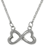 Jewelry Trends Stainless Steel Infinity Heart Pendant on Chain Necklace Valentines Day Gift