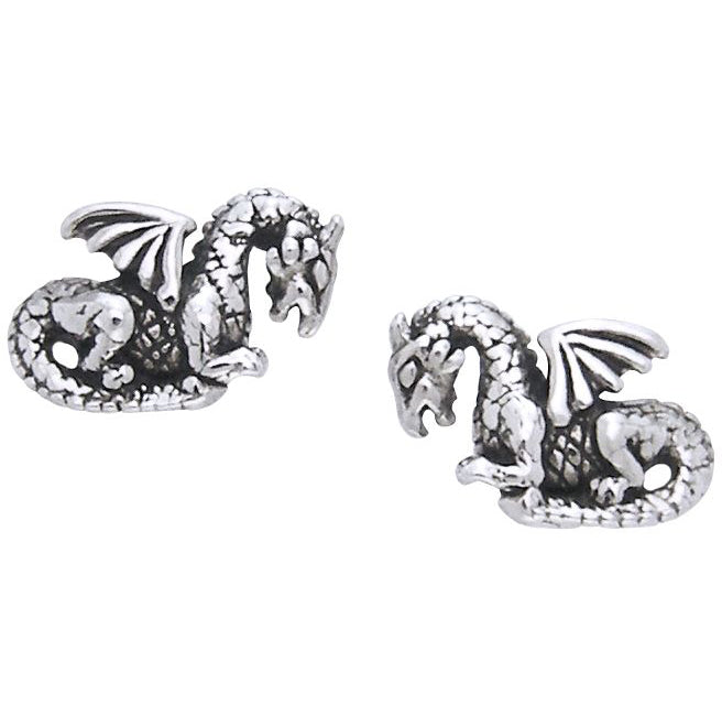 Jewelry Trends Sterling Silver Petite Dragon Post Earrings