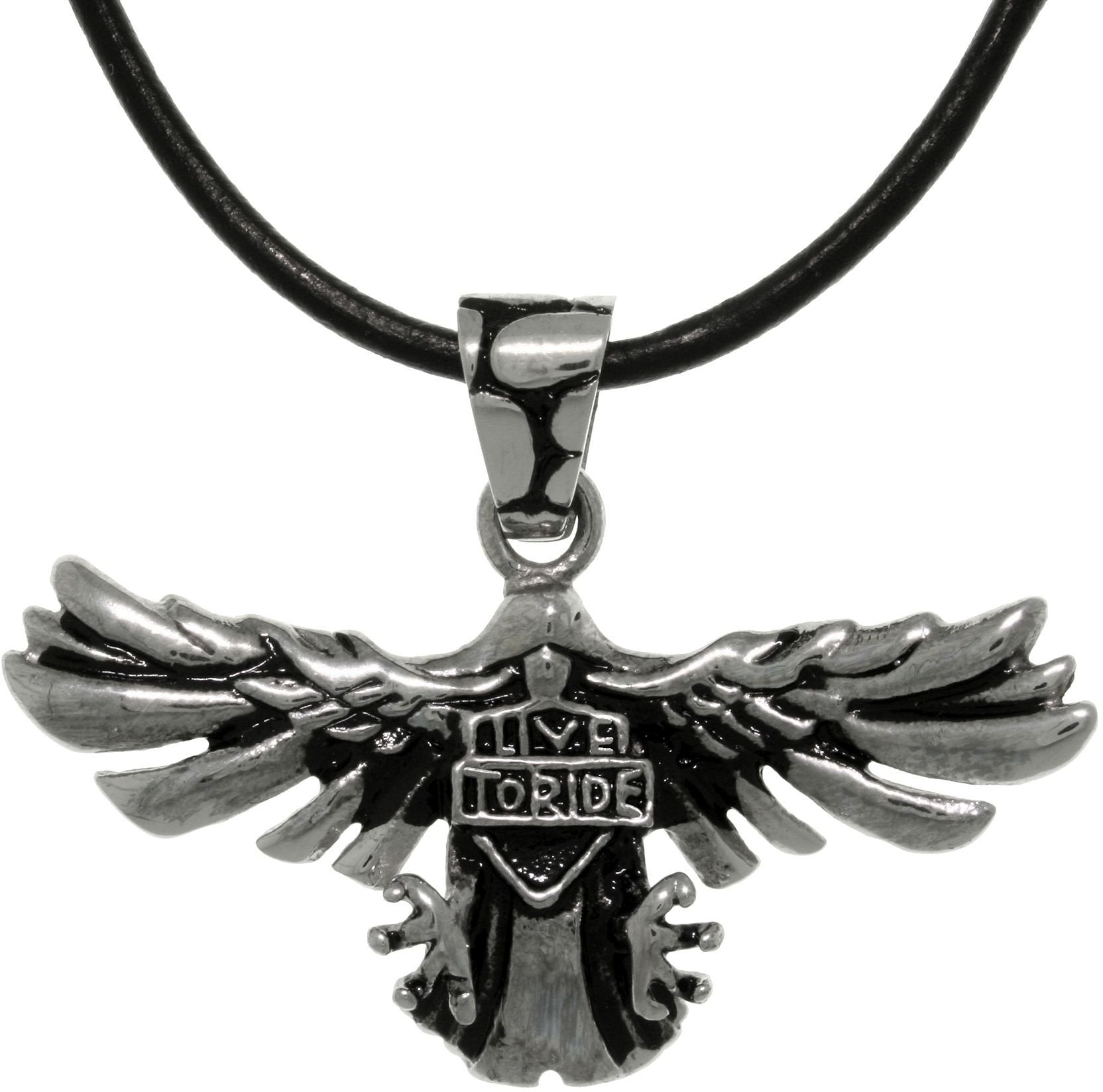 free today watches overstock shipping hills necklace eagle product pendant jewelry gold black
