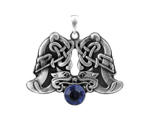 Jewelry Trends Celtic Animal Pewter Pendant with 26 Inch Rubber Cord Necklace