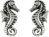 Jewelry Trends Sterling Silver Baby Seahorse Stud Earrings