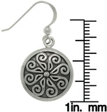Jewelry Trends Sterling Silver Viking Round Celtic Whirl Wind Dangle Earrings