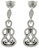 Jewelry Trends Sterling Silver Celtic Slip Knot Dangle Earrings