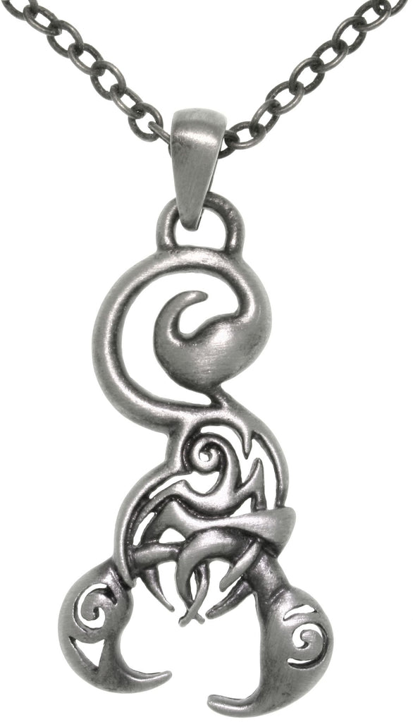Jewelry Trends Pewter Tribal Scorpion Pendant on 24 Inch Chain Necklace