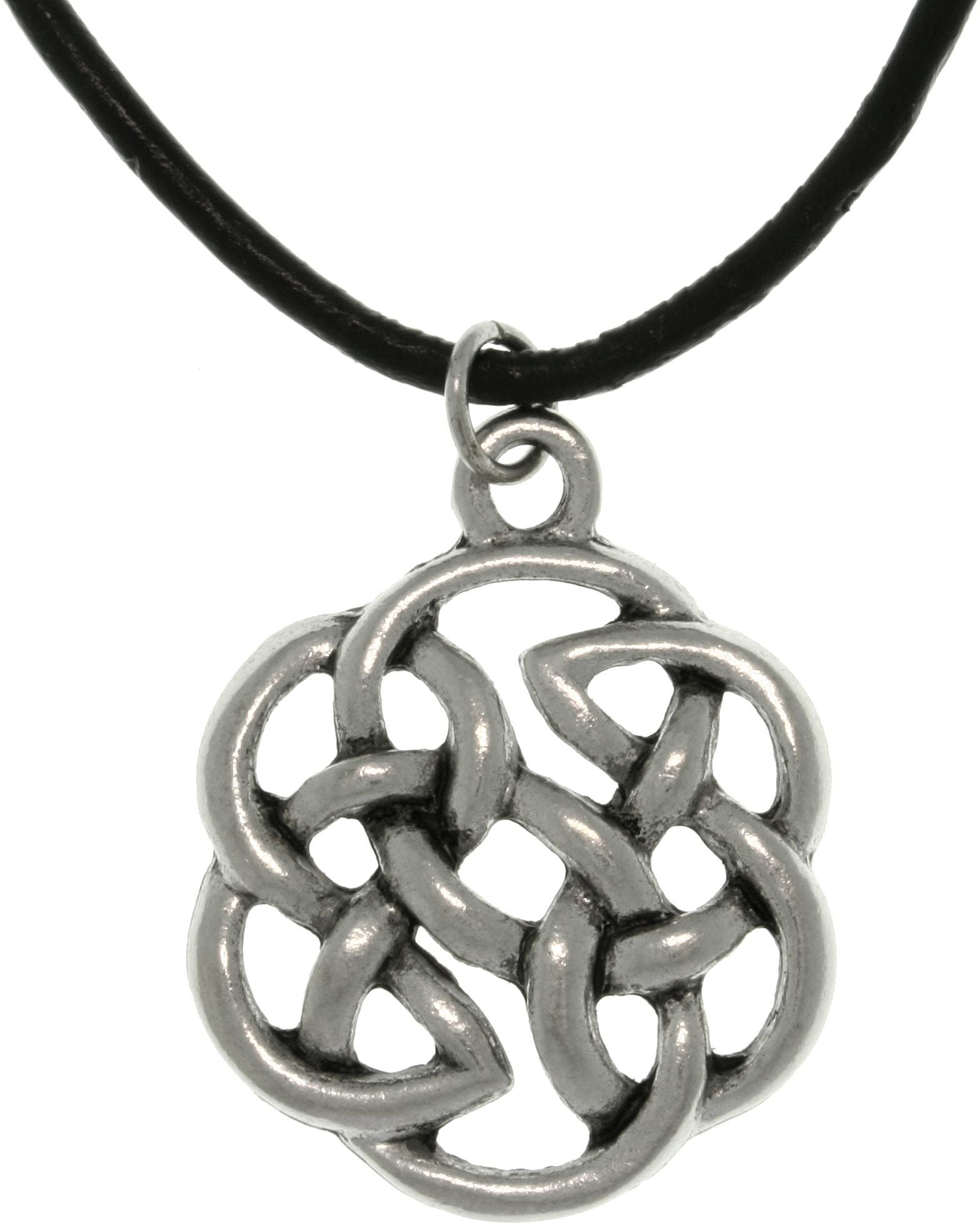 Jewelry Trends Pewter Unisex Celtic Shield of Destiny Pendant with 18 Inch Black Leather Cord Necklace