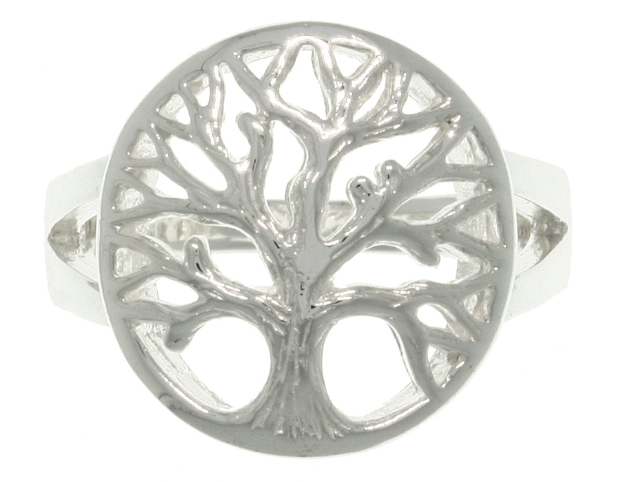 Jewelry Trends Sterling Silver Round Tree of Life Ring Whole Sizes 5 - 10