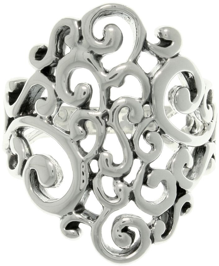 Jewelry Trends Sterling Silver Swirl Ring Whole Sizes 6 - 9
