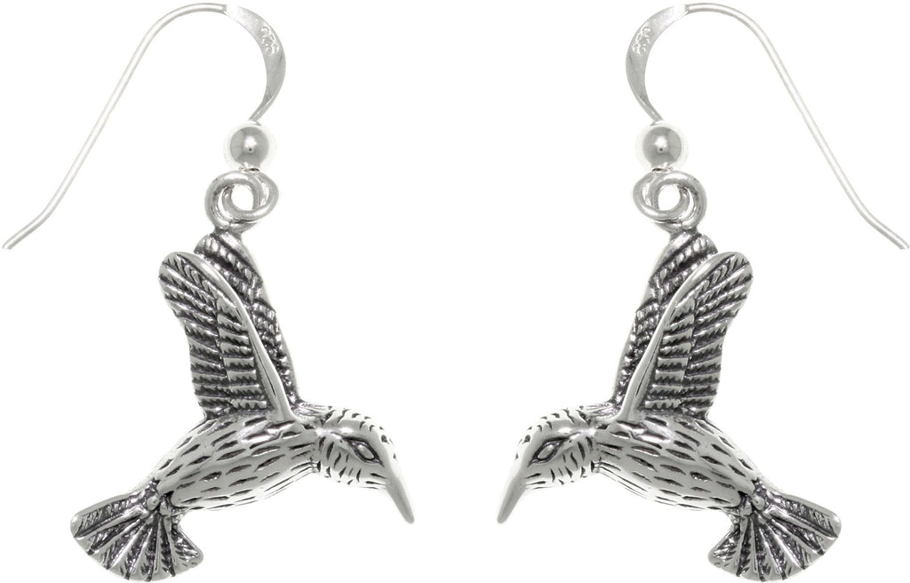 Jewelry Trends Sterling Silver Hummingbird in Flight Dangle Earrings Humming Bird Jewelry