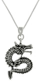Jewelry Trends Sterling Silver Asian Dragon Good Fortune Pendant on 18 Inch Box Chain Necklace