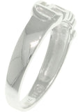 Jewelry Trends Sterling Silver Faith Word in Script Band Ring Size 7