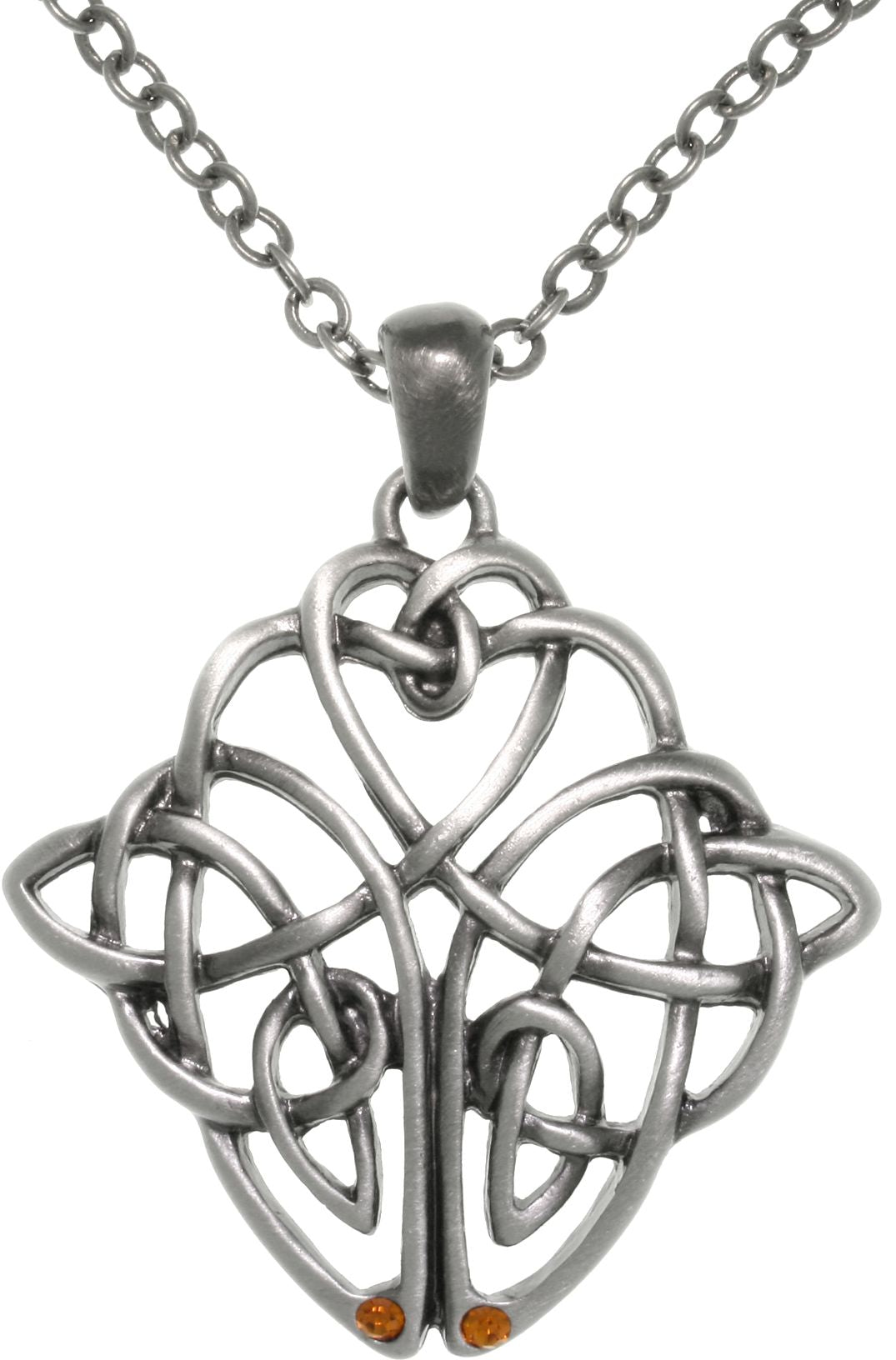 Jewelry Trends Pewter Celtic Knot Square Medallion Pendant on 24 Inch Chain Necklace