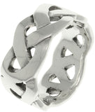 Jewelry Trends Sterling Silver Celtic Weave Knot Band Ring Whole Sizes 6 - 14