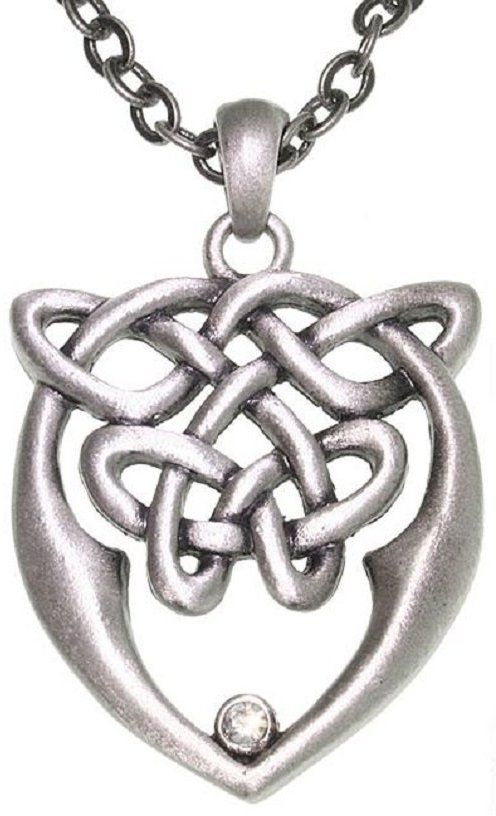Jewelry Trends Pewter Celtic Love and Unity Knot Pendant on 24 Inch Chain Necklace