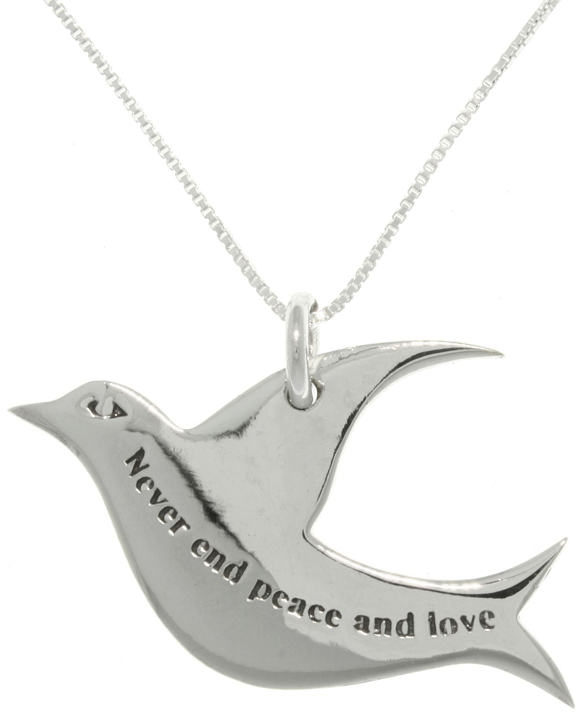 Jewelry trends sterling silver never end peace and love dove jewelry trends sterling silver never end peace and love dove pendant with 18 inch chain necklace aloadofball Choice Image