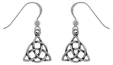 Jewelry Trends Sterling Silver Celtic Triquetra Circle of Life Dangle Earrings