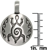 Jewelry Trends Pewter Tribal Spiral Design Turtle Unisex Pendant