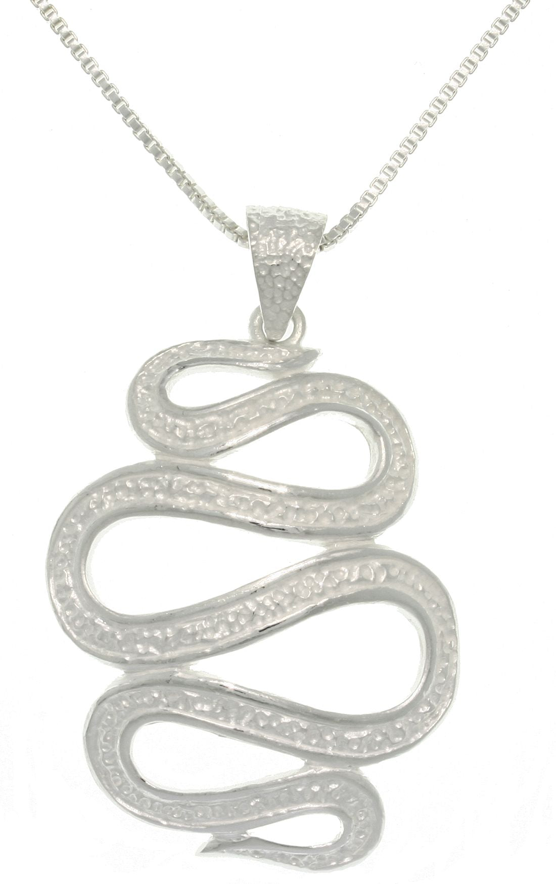 Jewelry Trends Sterling Silver Snake Spiral Pendant With 18 Inch Chain Necklace